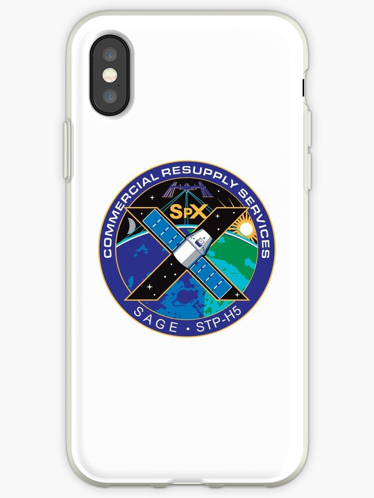 'SpaceX SPX10, CRS-10 Patch Logo' iPhone Case by the-elements