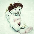 Ballerina Angel Cherub in Pink Ballet Slippers by OneDayArt