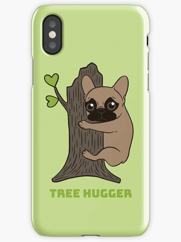Black mask Frenchie is an environmental friendly tree hugger by Chee Sim