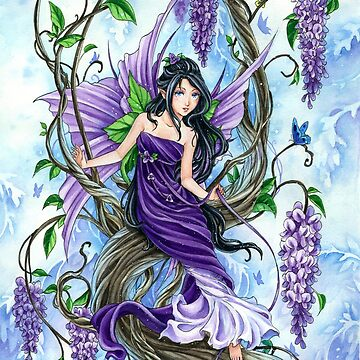 Purple Wisteria flower fairy by Meredith Dillman by meredithdillman
