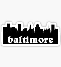 baltimore skyline Sticker