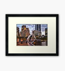 Connecting Bridge In the City Framed Print