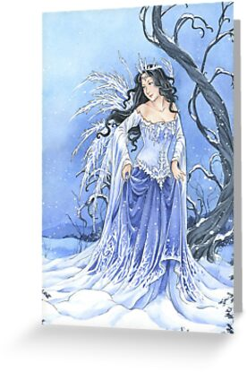 Blue Ice Snow Queen Fairy by Meredith Dillman