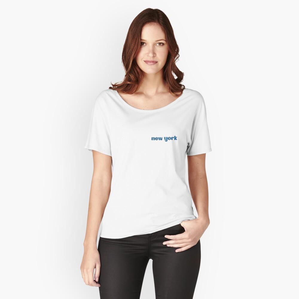 Camiseta ancha para mujerNueva York Delante