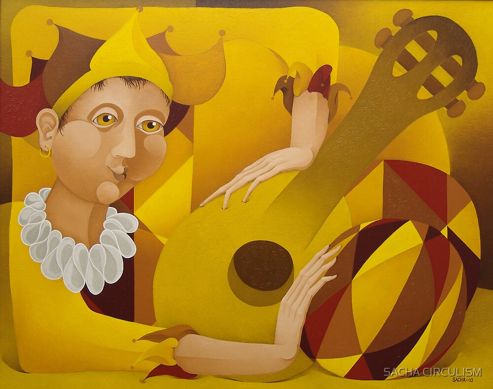 Harlequin with Lute  2004 by SACHA CIRCULISM
