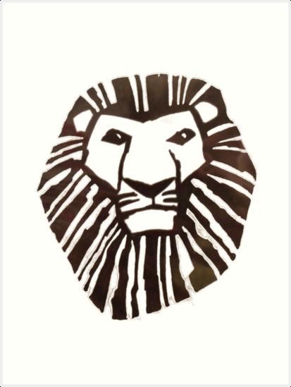 """""""könig der löwen logo"""" kunstdruck von jodibertrand  redbubble"""