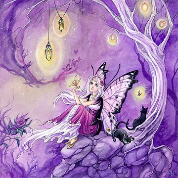 Chasing Butterflies gothic butterfly fairy by meredithdillman