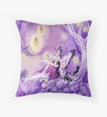 Chasing Butterflies gothic butterfly fairy Throw Pillow