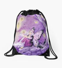 Chasing Butterflies gothic butterfly fairy Drawstring Bag