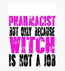 Pharmacist Witch Photographic Print