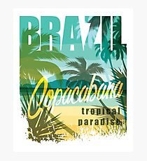 Brazil Tropical Paradise Photographic Print