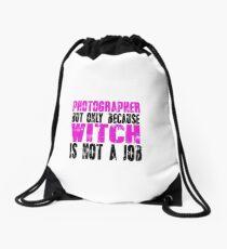 Photographer Witch Drawstring Bag