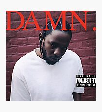 Kendrick Lamar - DAMN. (Official Album Cover HD) Photographic Print