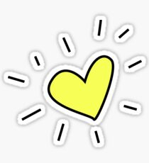 Radiating Yellow Heart Sticker