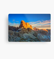 Croda dei Toni evening Metal Print