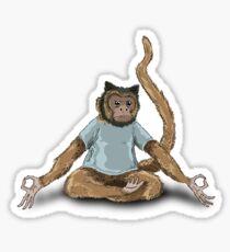 Yoga Monkey Sticker