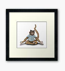 Yoga Monkey Framed Print