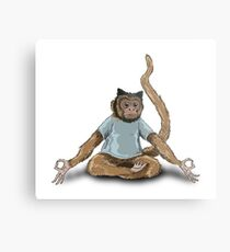 Yoga Monkey Metal Print