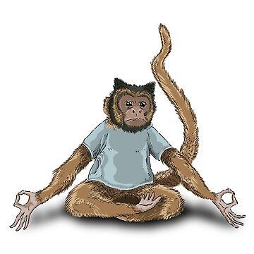 Yoga Monkey by Genoslaw