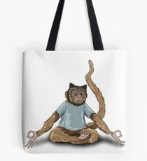 Yoga Monkey Tote Bag