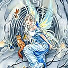 Labyrinth anime Fairy and cat  by meredithdillman