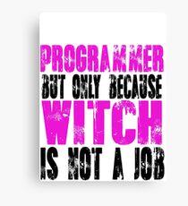 Programmer Witch Canvas Print