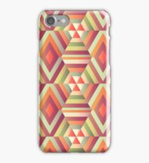 Geometric hexagon op illusion iPhone Case/Skin