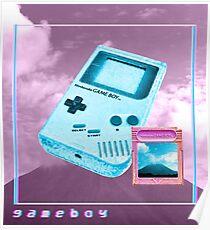 Gameboy vaporwave Poster