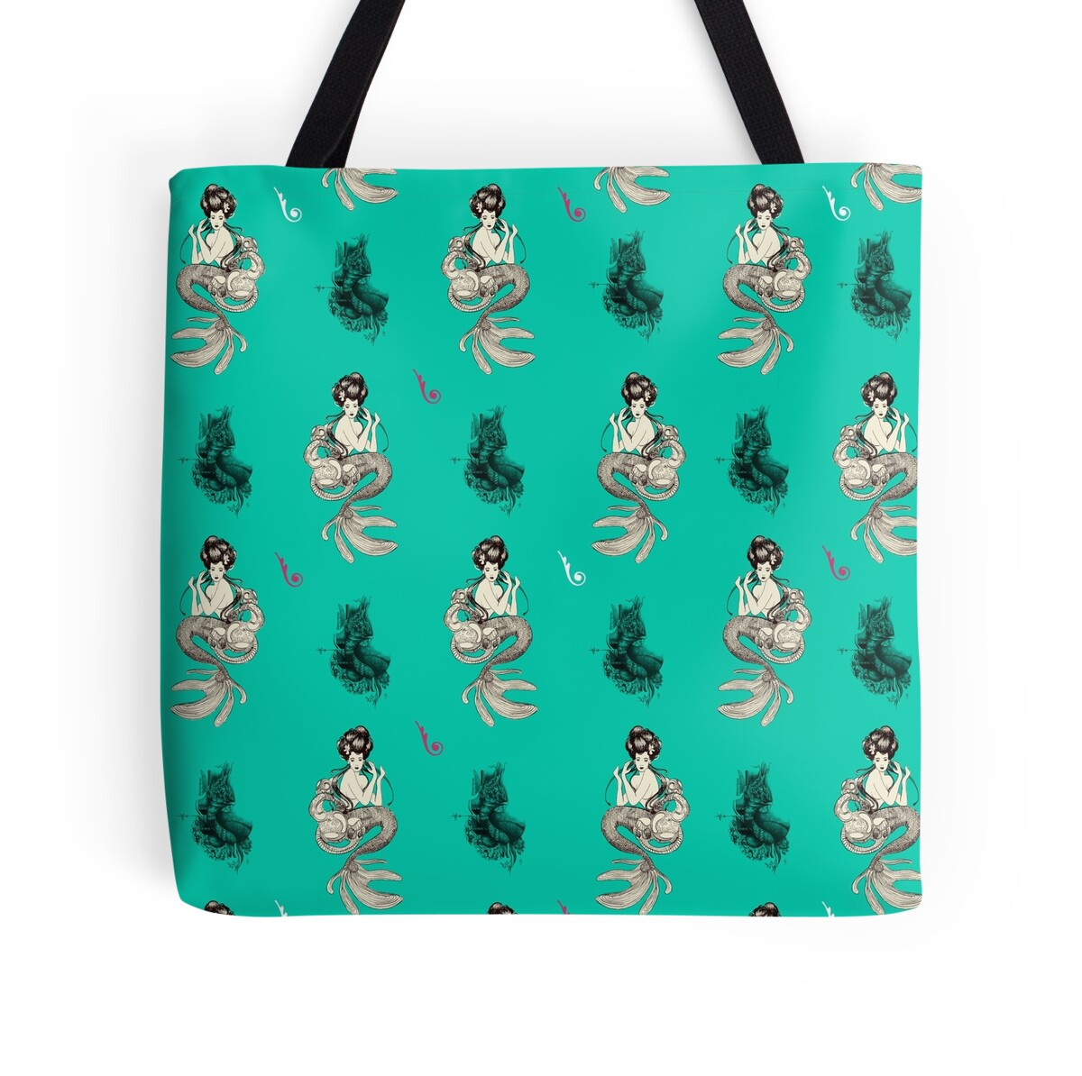 Quot Mermaid Quot Tote Bags By Lenadesigner Redbubble