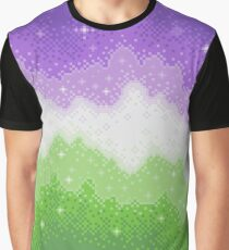 Genderqueer Pride Galaxy Graphic T-Shirt