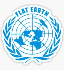 UN logo - Flat Earth Sticker