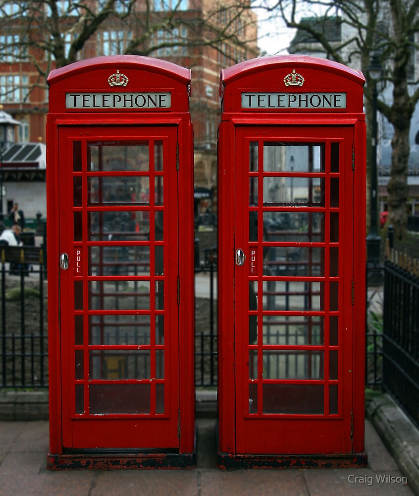 Quot London Red Phone Box Quot By Craig Wilson Redbubble