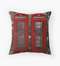 London Red Phone Box Throw Pillow