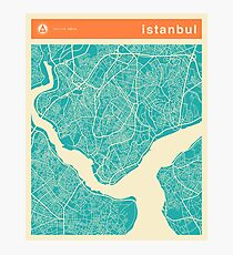 ISTANBUL MAP Photographic Print