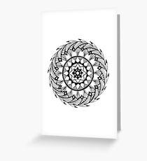 Quill Mandala Greeting Card