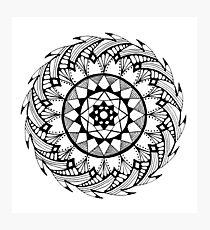 Quill Mandala Photographic Print