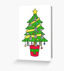 Christmas tree for runners. Greeting Card