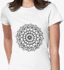 Quill Mandala Women's Fitted T-Shirt