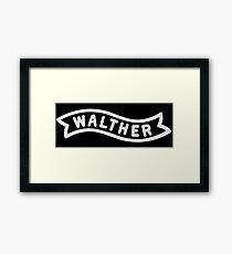 Walther Banner - White Framed Print