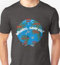 Whales, save us! Paris Accords, Global warming Unisex T-Shirt
