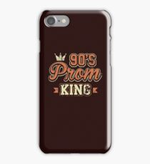 90's Prom King Nineties Distressed Retro Style T-Shirt  iPhone Case/Skin
