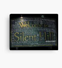 Silent Hill Sign Quotes Canvas Print