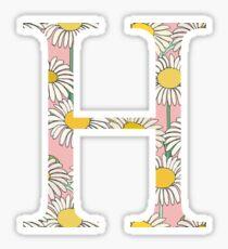 Eta H Daisies Sticker