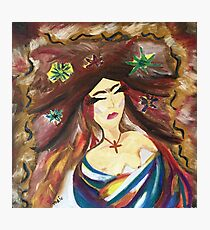Latin Woman of Faith Photographic Print