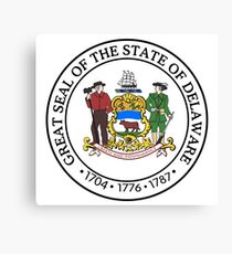 State of Delaware Seal Canvas Print