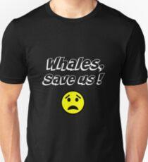 Whales, save us! Paris Accords, Climate change Unisex T-Shirt