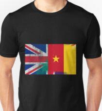 British Cameroonian Half Cameroon Half UK Flag Unisex T-Shirt
