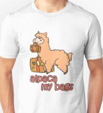 Kawaii Cute Anime Alpaca My Bags Geek Humor Design Unisex T-Shirt