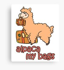 Kawaii Cute Anime Alpaca My Bags Geek Humor Design Canvas Print