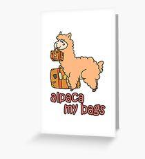 Kawaii Cute Anime Alpaca My Bags Geek Humor Design Greeting Card
